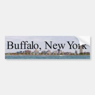 Buffalo NY Skyline with Buffalo in the Sky Sticker