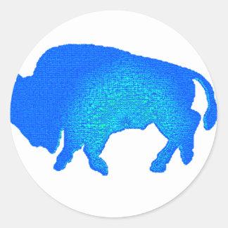 Buffalo of the Sky Line Classic Round Sticker