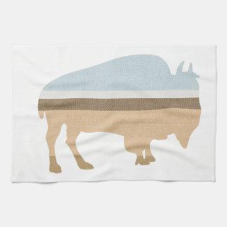 Buffalo on a Plain Hand Towel