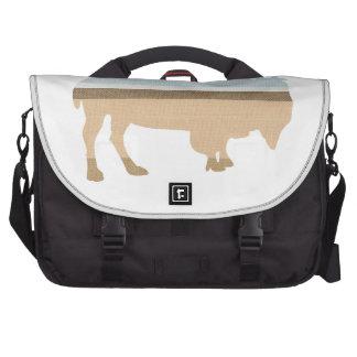 Buffalo on a Plain Laptop Bag
