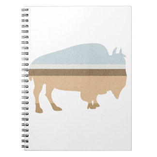 Buffalo on a Plain Notebook