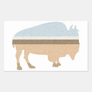 Buffalo on a Plain Rectangular Sticker