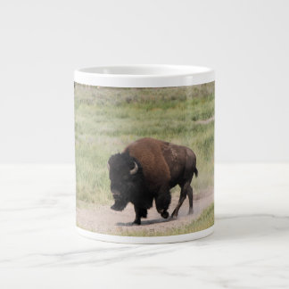 Buffalo on the move, Photography, Customize text Giant Coffee Mug