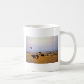 Buffalo on the plain coffee mugs