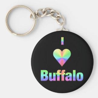Buffalo -- Pastels Keychain