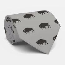 Buffalo Pattern Neck Tie