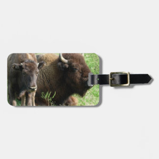 Buffalo Picture Luggage Tag