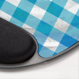 Buffalo Plaid Blue and White Gel Mouse Pad