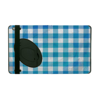 Buffalo Plaid Blue and White iPad Cover