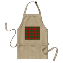 Buffalo Plaid Christmas Check Pattern,Green Red Adult Apron