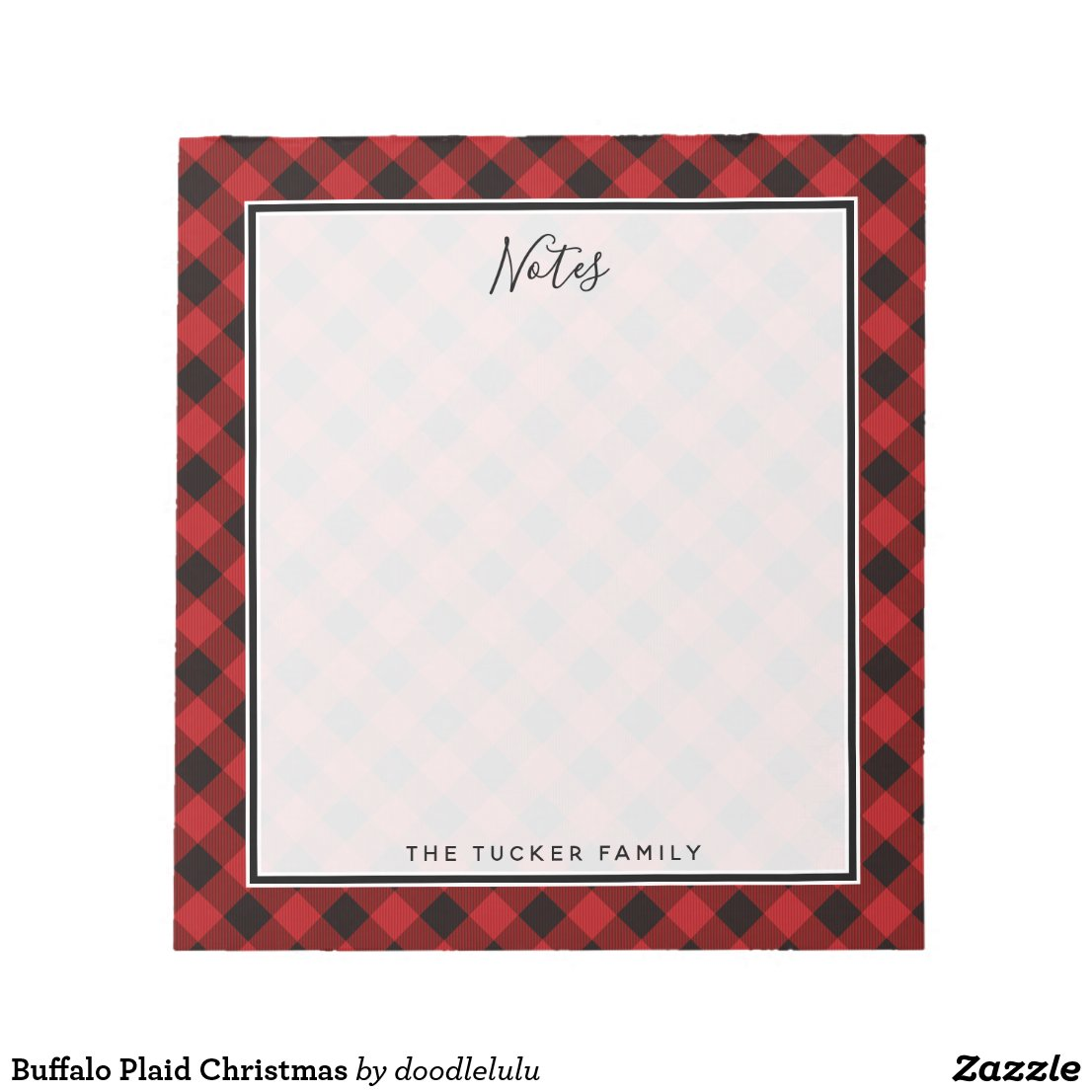 Buffalo Plaid Christmas Notepad
