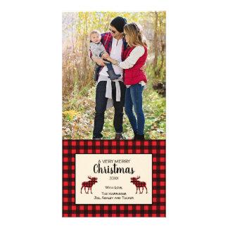Buffalo Plaid Christmas photo card