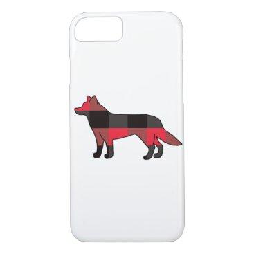 Buffalo Plaid Dog iPhone 8/7 Case