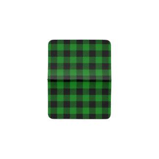 Buffalo Plaid - Green Business Card Holder