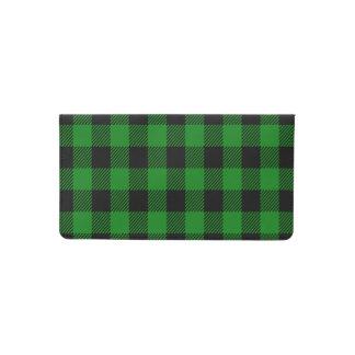 Buffalo Plaid - Green Checkbook Cover