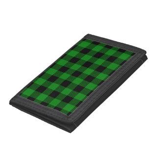 Buffalo Plaid - Green Trifold Wallet