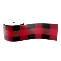 Buffalo plaid grosgrain ribbon