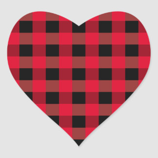 Buffalo plaid heart heart sticker