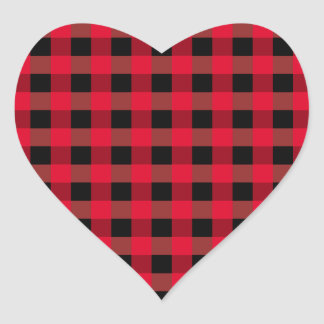 Buffalo plaid heart sticker