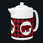 "Buffalo plaid kitchen bear teapot<br><div class=""desc"">design by www.etsy.com/Shop/Milachi back by www.etsy.com/Shop/JLaurieStudio</div>"