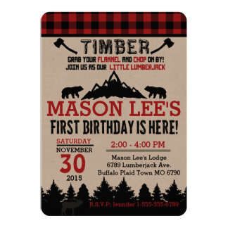 Lumberjack Invitations & Announcements | Zazzle