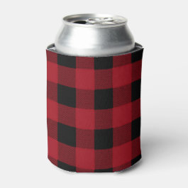 Buffalo Plaid, Lumberjack Plaid, Can Cooler