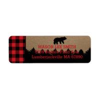 Buffalo Plaid Lumberjack Return Address Labels