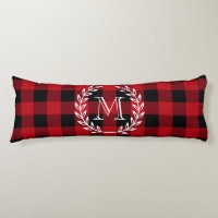 Buffalo Plaid Monogram Body Pillow