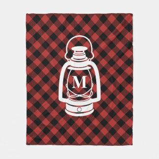 Buffalo Plaid Monogram Lantern Blanket