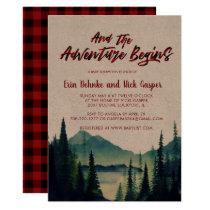 Buffalo Plaid | Mountain Baby Shower Invitation