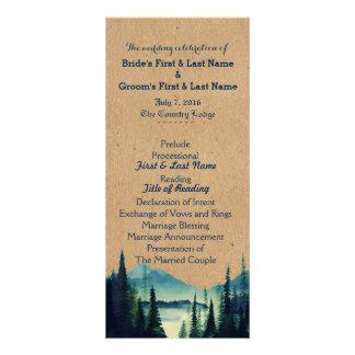 Buffalo Plaid Mountain Wedding Program Rack Card
