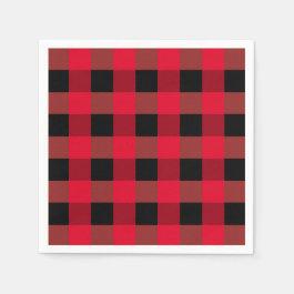 Buffalo plaid napkins