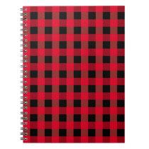 Buffalo plaid notebook