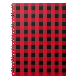 Buffalo plaid notebook