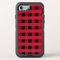 Buffalo plaid OtterBox defender iPhone 7 case