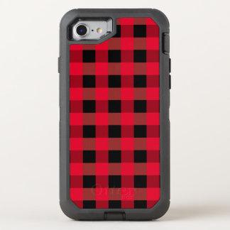 Buffalo plaid OtterBox defender iPhone 7 case