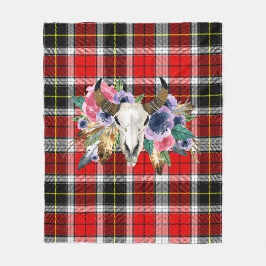 buffalo plaid pattern fleece blanket