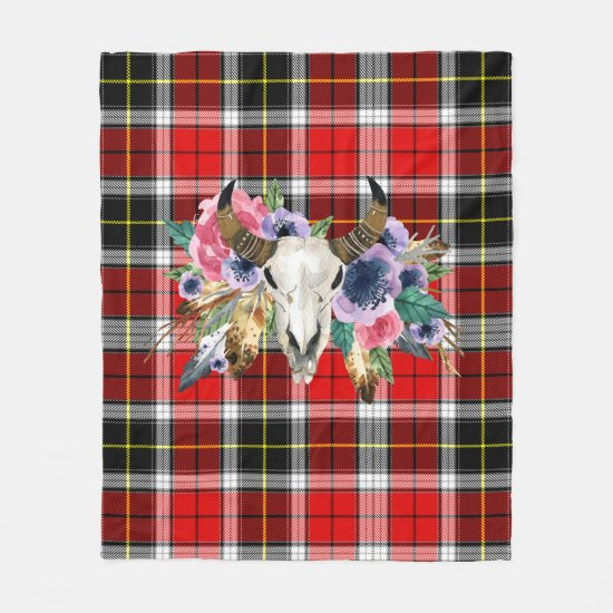 Buffalo plaid pattern Fleece Blanket