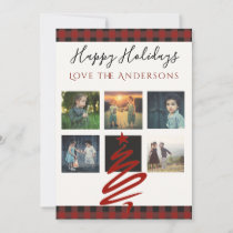 Buffalo Plaid PHOTO Collage Card Instagram Holiday