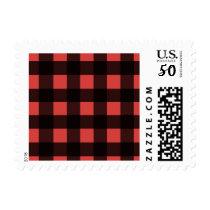 Buffalo plaid postage stamps
