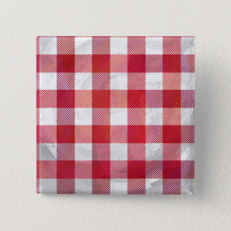 Buffalo Plaid Red and White Button
