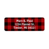 Buffalo Plaid Return Address Labels