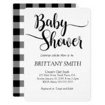 Buffalo Plaid Simple Baby Shower Invitation