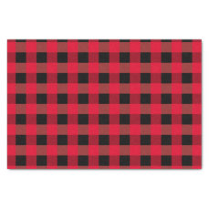 Buffalo plaid tissue paper