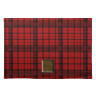 Buffalo Plaid with Maple Leaf Button American MoJo Placemats