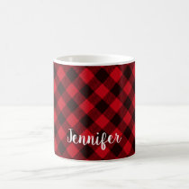 Buffalo Red and Black Plaid Pattern Christmas Coffee Mug