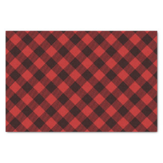 Buffalo Red and Black Plaid Winter Christmas Tissue Paper