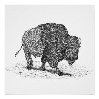 Buffalo Roaming Framed Print