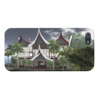 Buffalo Roof Minangkabau Tropical House iPhone 5 Cover For iPhone 5