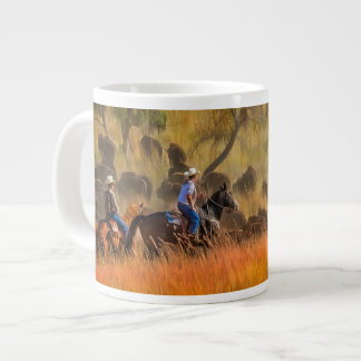 Buffalo Roundup Giant Coffee Mug